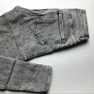 Express Gray Acid Wash High Rise Legging Jean